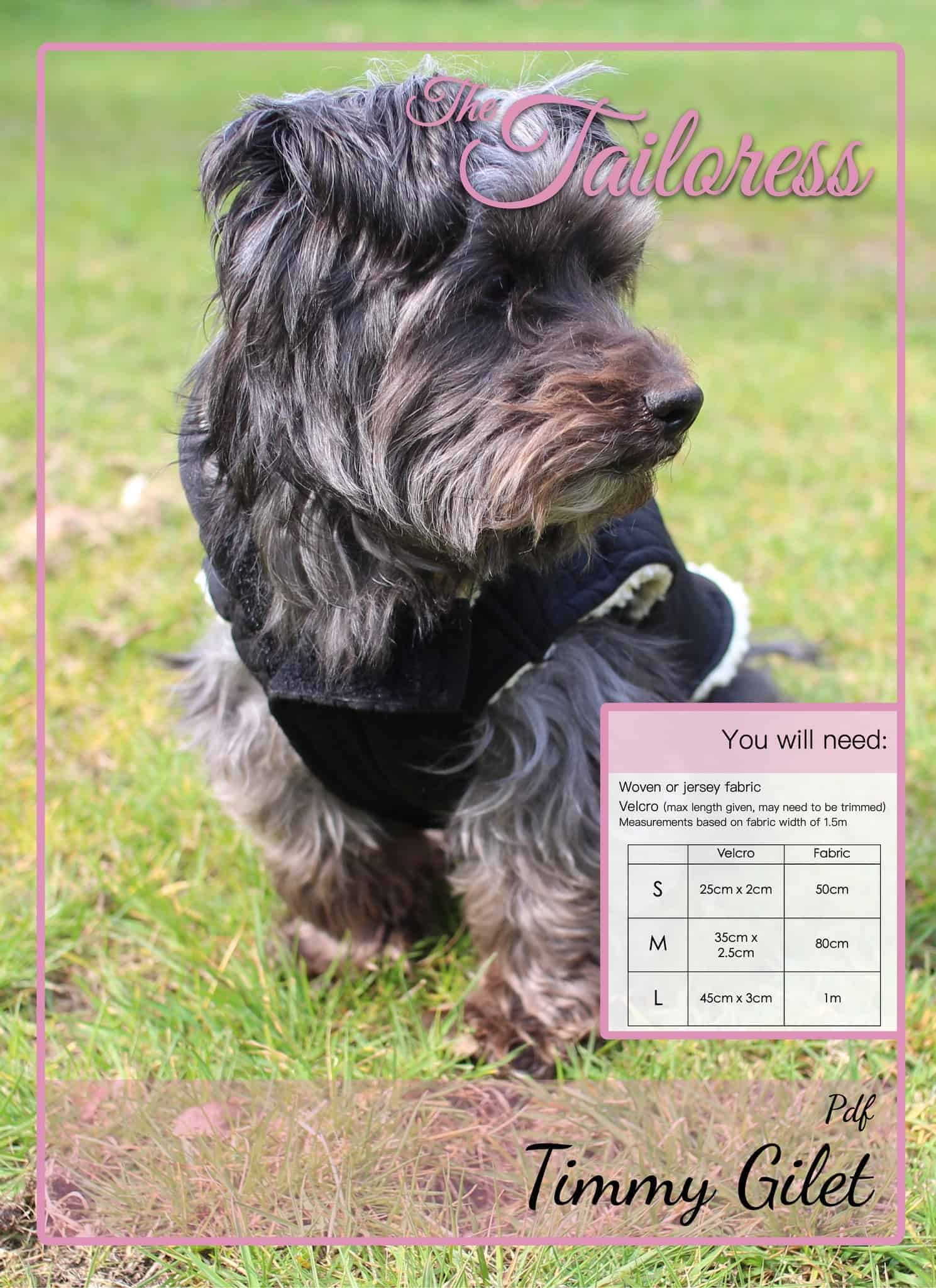 The Tailoress PDF Sewing Patterns - Timmy Gilet for Dogs Tutorial
