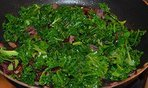 The kale and onions in the frying pan - The Irish Place