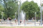Riverside Park interactive fountain in Wichita