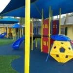 Детская площадка в детском саду.