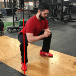 squat knee in line with toes
