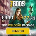 7 Gods Casino Online & Mobile: €/$/£440 bonus and 77 free spins