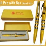 Metal Ball Pen with Box 911