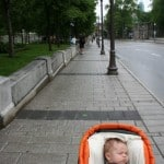 grand allee, quebec city, quebec city with a baby