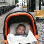 baby in quebec city, travel with baby, family travel