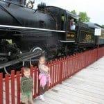 baby friendly calgary, baby friendly, heritage park calgary, heritage park, steam train, steam train ride