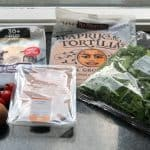 Eiwitrijke groentewrap