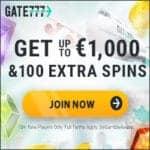 Is Gate 777 Casino legit? Get €1000 bonus & 100 extra spins!