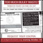 2020 Sedgwick County Bulky Waste Coupon advertisment