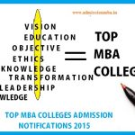 Top MBA colleges Admission Notifications