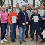 Hypnotherapist Nick Davies with training academy students in Holland.