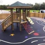 Резиновое покрытие для детских площадок на даче.