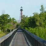 Anclote Key Lighthouse and boardwalk.
