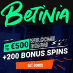 Betinia Casino & Sportsbook - 100% bonus and 200 free spins