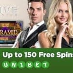 Unibet Casino 150 free spins and 200% gratis extra bonus