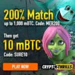 Crypto Thrills Bitcoin Casino 50 free spins no deposit bonus