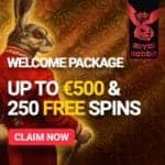 How to get 250 free spins & €500 bonus to Royal Rabbit Casino?