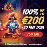 Casino Masters 30 Free Spins + 100% Bonus + €200 Gratis