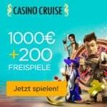 CasinoCruise.com 200 freispiele und €1.000 Willkommensbonus
