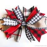 How to make a bow for a wreath - Easy 5 Minute Home Decor Craft