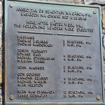 Commemoration Plaque with details of the leaders executed for their part in the 1916 Easter Rising. - The Irish Place