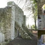 The buttressed west end wall showing the antae and internal views of the church at Kilree - The Irish Place