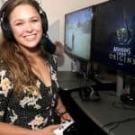 Ronda playing video games