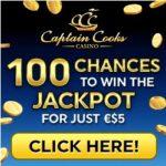 Captain Cooks Casino [register & login] - 100 free spins on Mega Moolah