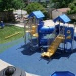 Современная детская игровая площадка.