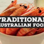 Traditional Australian Food prawns