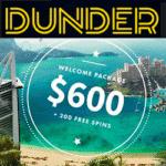 Dunder Casino [register & login] 20 free spins no deposit required