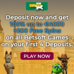 Dingo Casino €/$4,000 bonus and 200 free spins on registration!