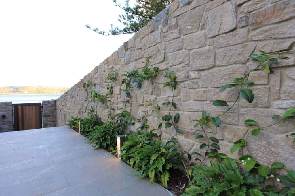 boundary wall designs with stones