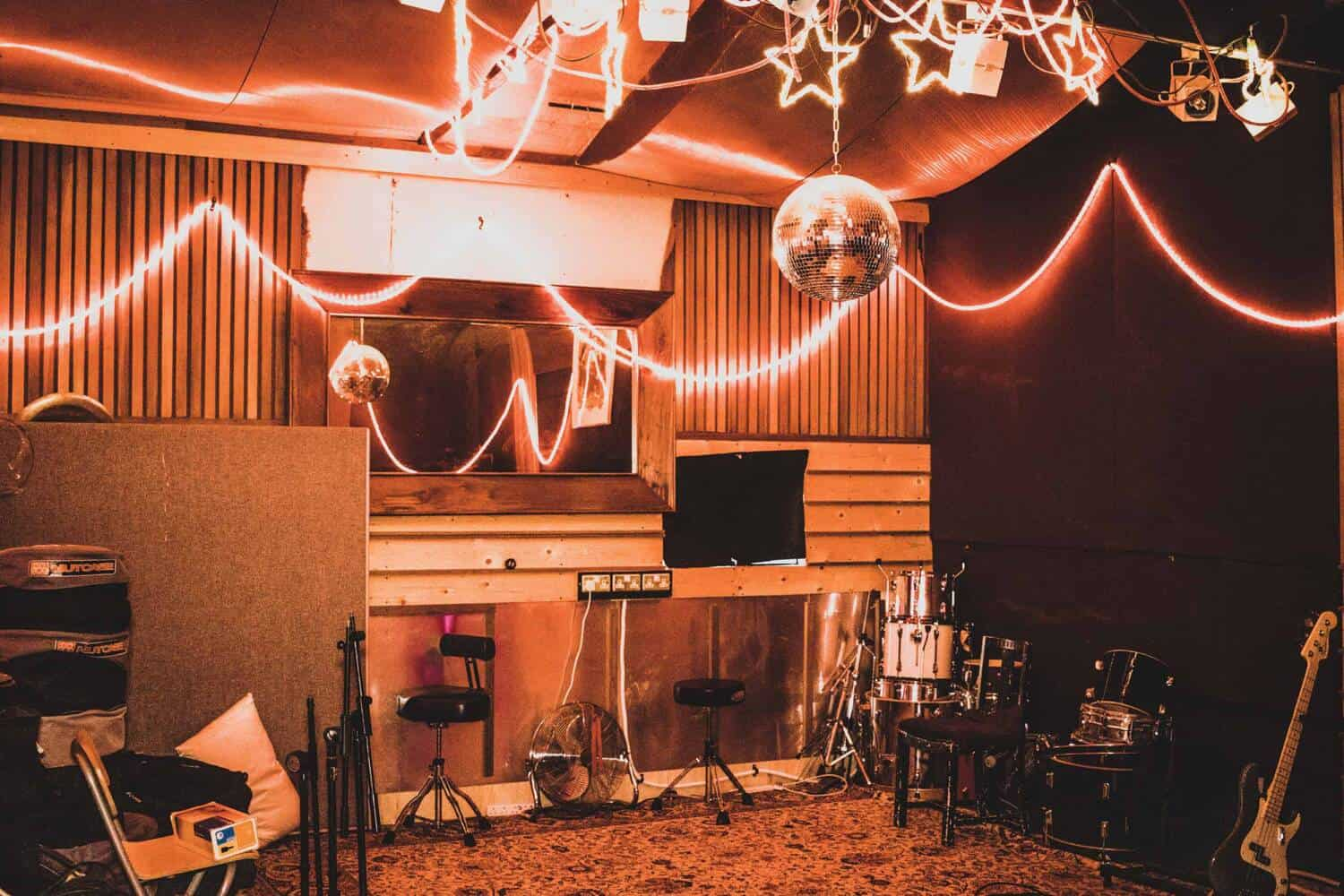 main room at Panicbutton - Recording and Rehearsal Studio Hampton London