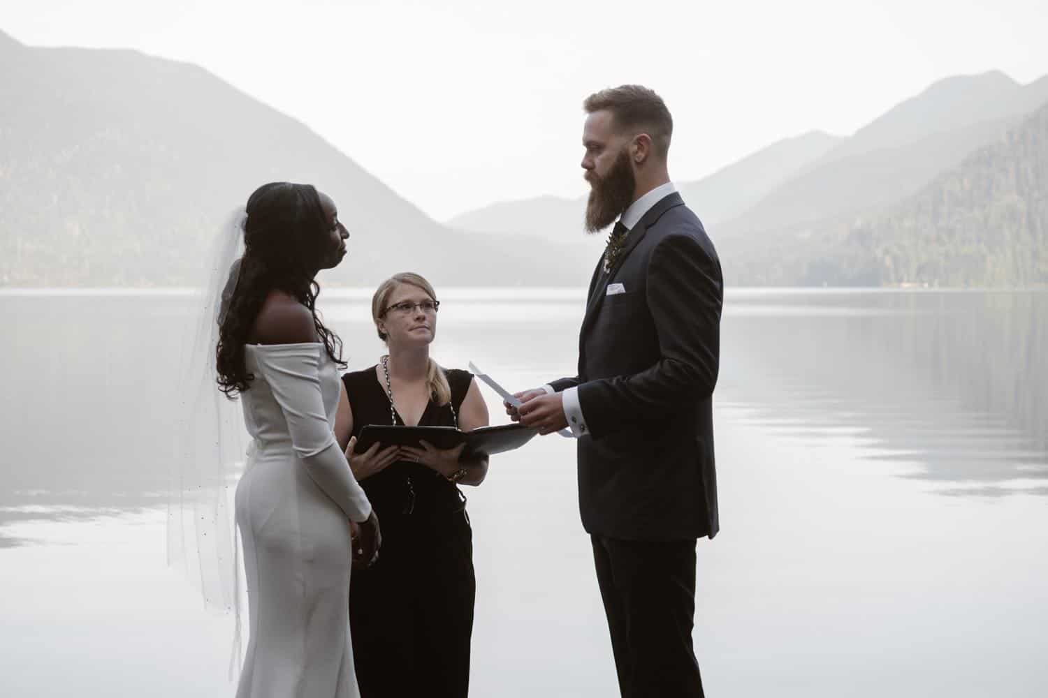 Vow Ceremony Olympic National Park Elopement