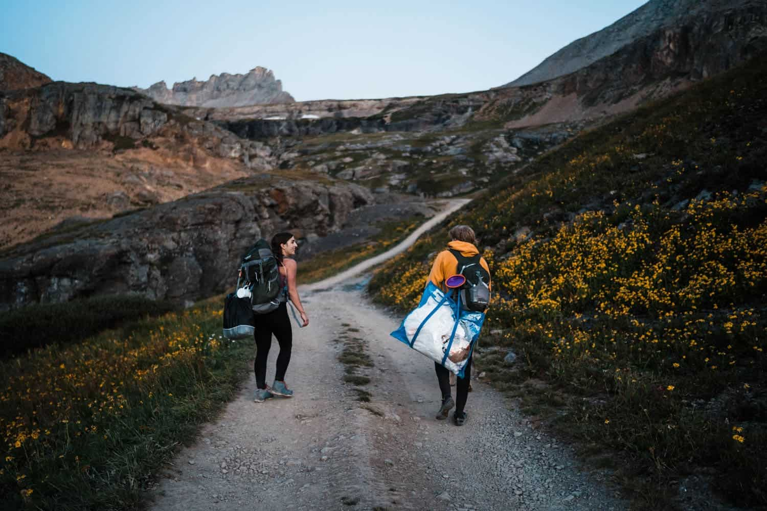 Couple Hiking Ouray Colorado Elopement