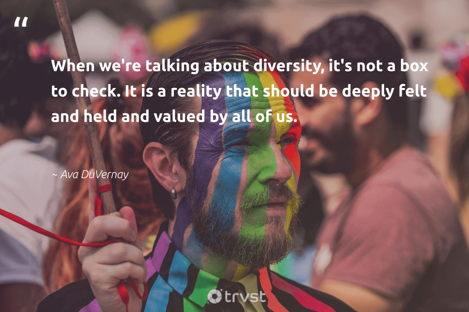 """""""When we're talking about diversity, it's not a box to check. It is a reality that should be deeply felt and held and valued by all of us.""""  - Ava DuVernay #trvst #quotes #diversity #inclusion #representationmatters #bethechange #giveback #ecoconscious #discrimination #makeadifference #socialgood #dotherightthing"""