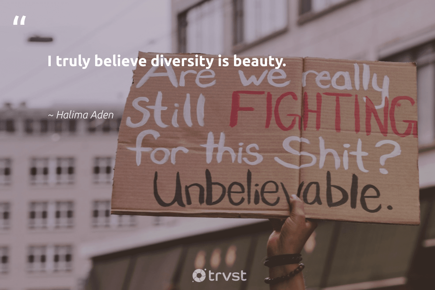 """""""I truly believe diversity is beauty.""""  - Halima Aden #trvst #quotes #diversity #beauty #representationmatters #inclusion #weareallone #makeadifference #ecoconscious #discrimination #socialgood #socialchange"""