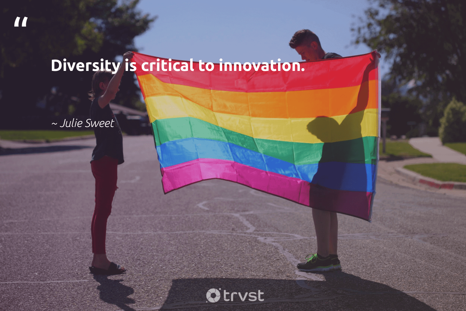 """""""Diversity is critical to innovation.""""  - Julie Sweet #trvst #quotes #diversity #discrimination #representationmatters #socialchange #giveback #impact #inclusion #makeadifference #weareallone #dosomething"""