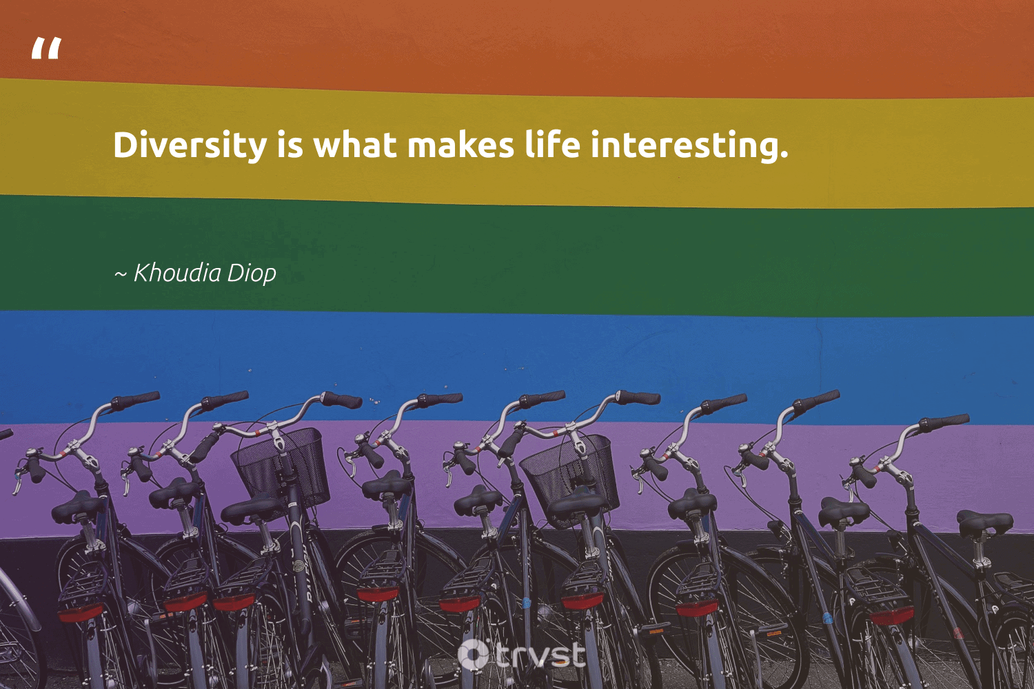 """""""Diversity is what makes life interesting.""""  - Khoudia Diop #trvst #quotes #diversity #discrimination #representationmatters #socialchange #bethechange #planetearthfirst #inclusion #weareallone #giveback #dotherightthing"""