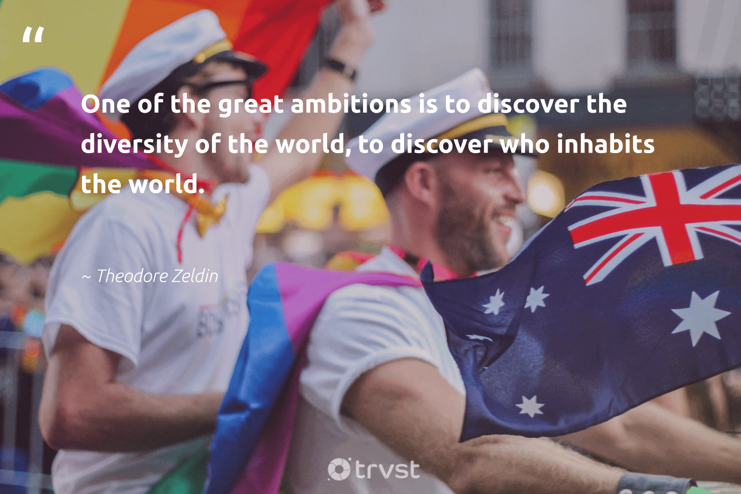 """""""One of the great ambitions is to discover the diversity of the world, to discover who inhabits the world.""""  - Theodore Zeldin #trvst #quotes #diversity #discrimination #representationmatters #socialchange #bethechange #collectiveaction #inclusion #weareallone #socialgood #beinspired"""