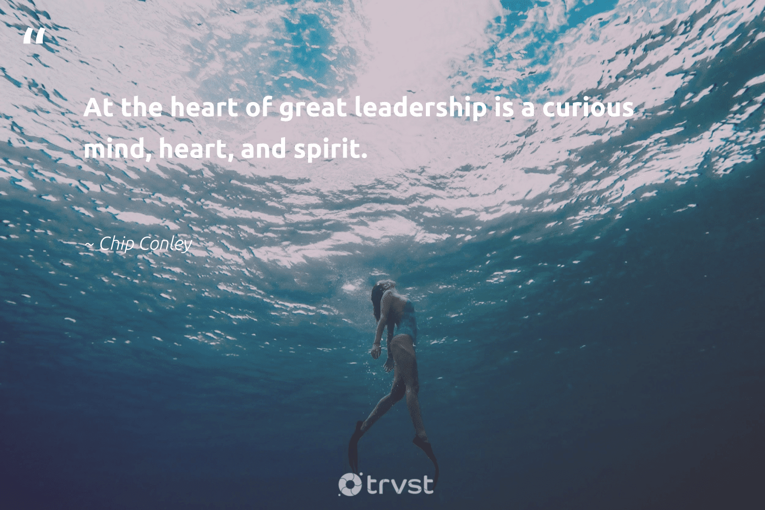 """""""At the heart of great leadership is a curious mind, heart, and spirit.""""  - Chip Conley #trvst #quotes #leadership #leadershipdevelopment #softskills #futureofwork #collectiveaction #leadershipqualities #begreat #nevergiveup #ecoconscious #leadershipskills"""