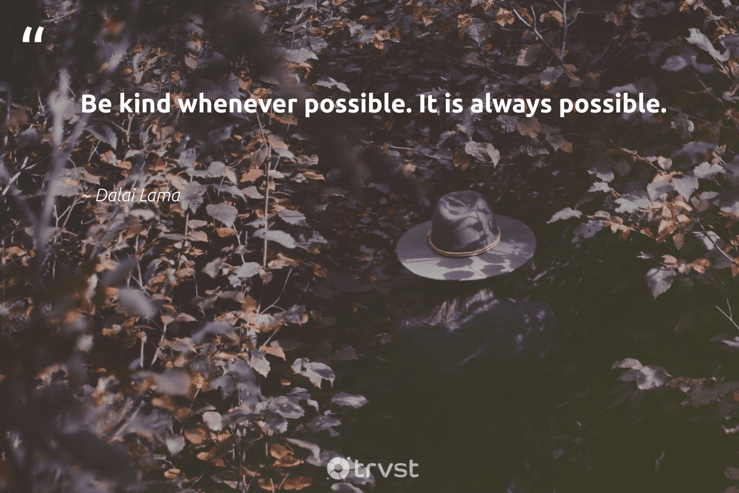 """""""Be kind whenever possible. It is always possible.""""  - Dalai Lama #trvst #quotes #begreat #takeaction #nevergiveup #dosomething #futureofwork #collectiveaction #softskills #impact #beinspired #dogood"""