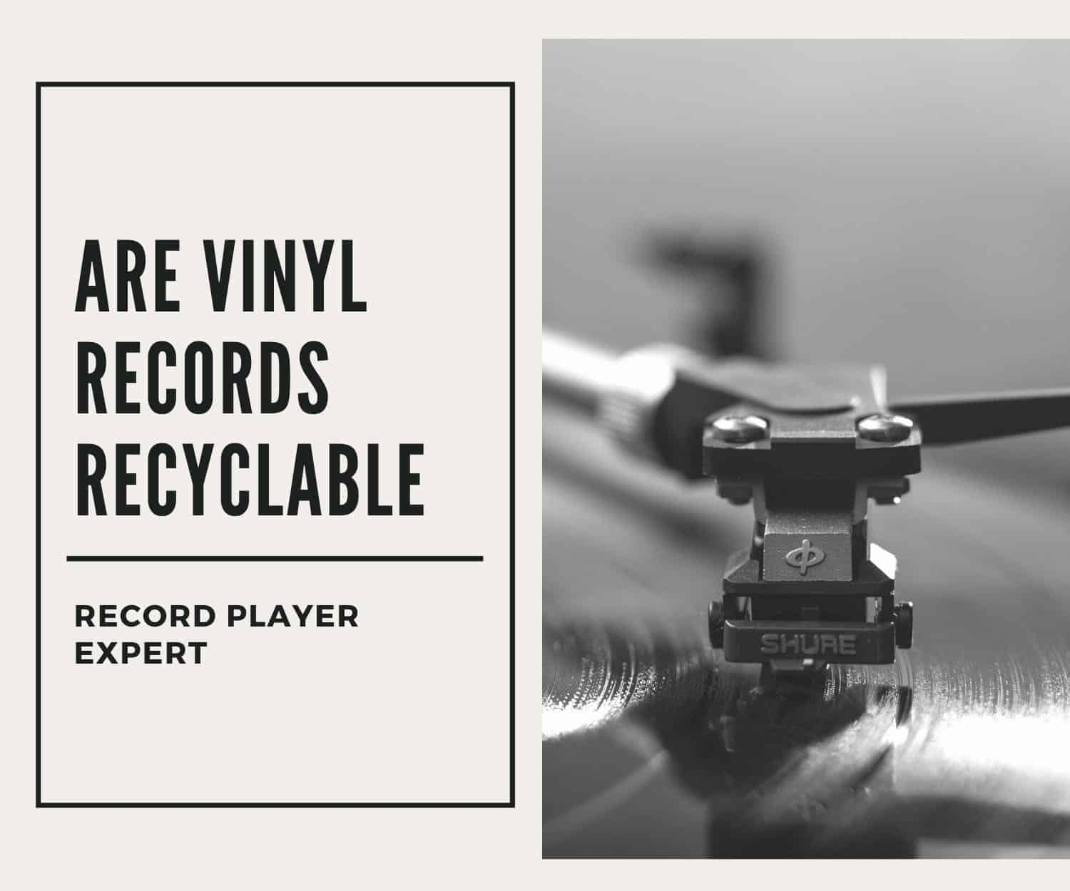 are vinyl records recyclable featured image