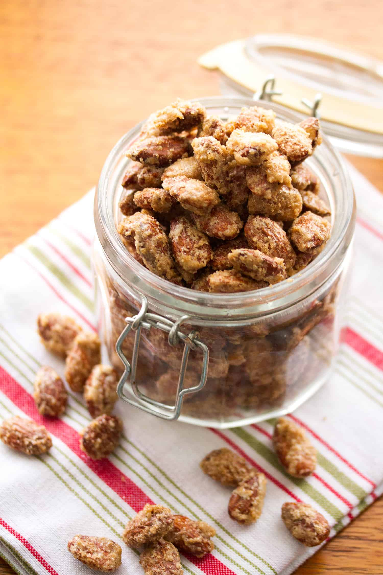 Candied Gingerbread Almonds