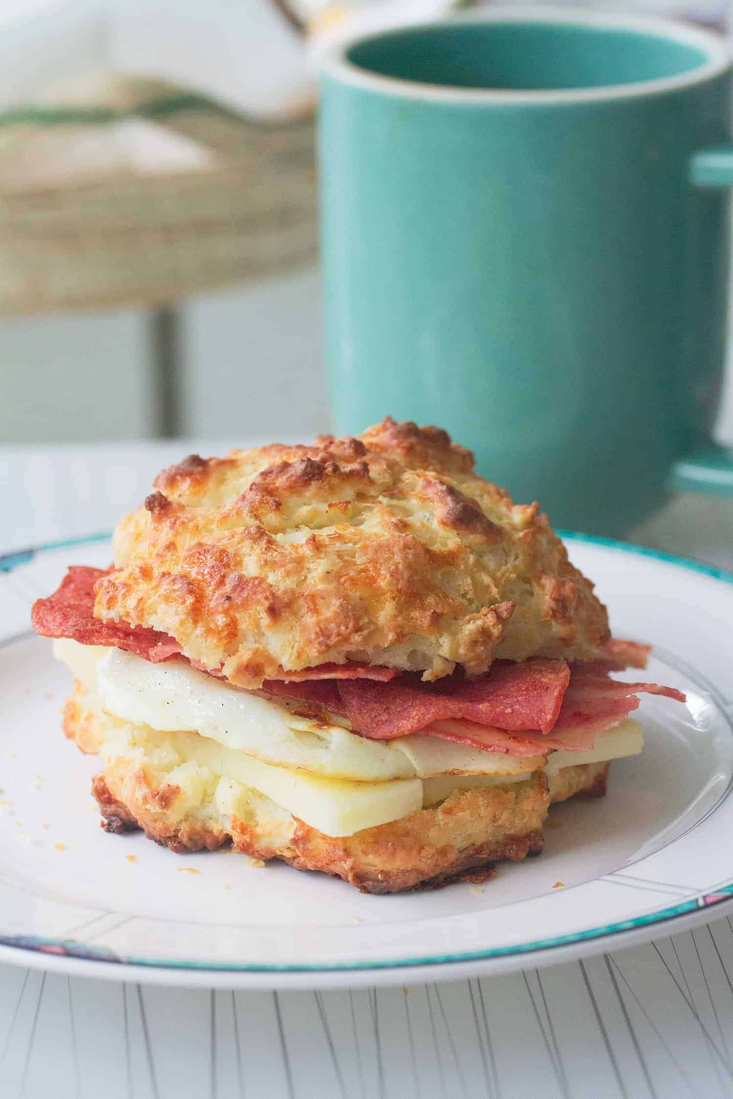 Cheddar Black Pepper Breakfast Biscuits