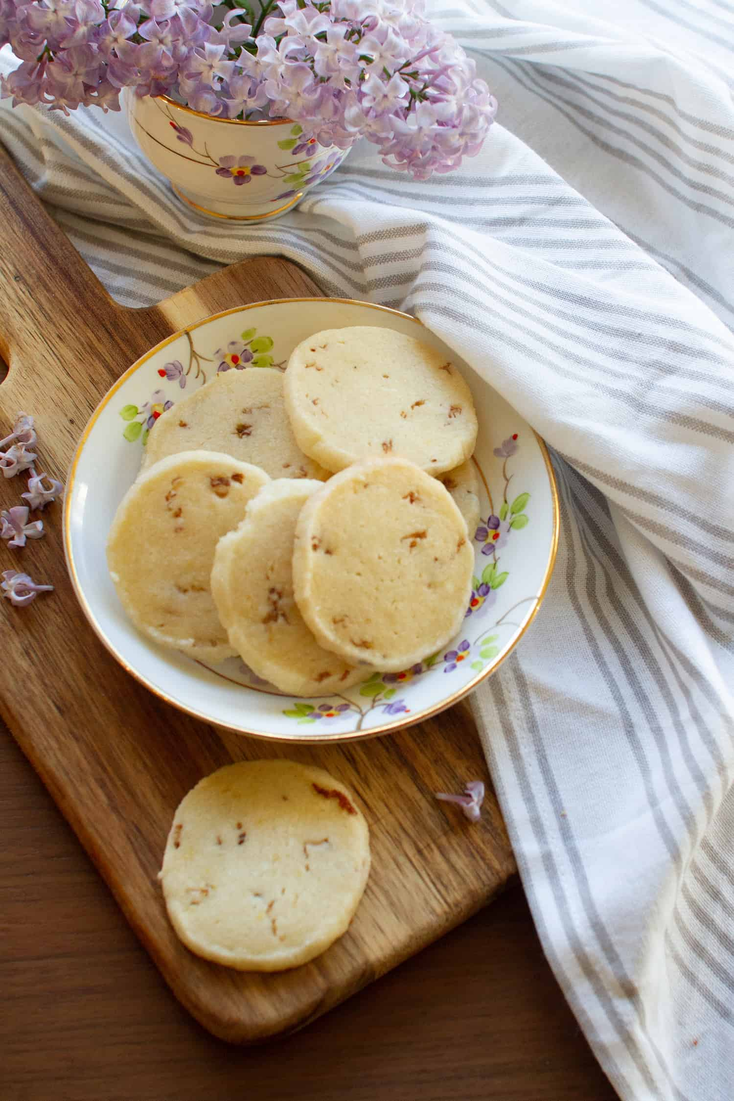 Lilac Shortbread Cookies