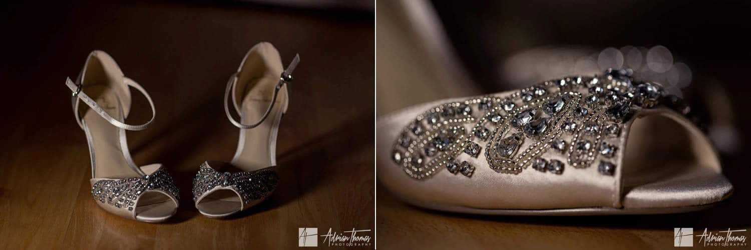 Image of brides shoes.