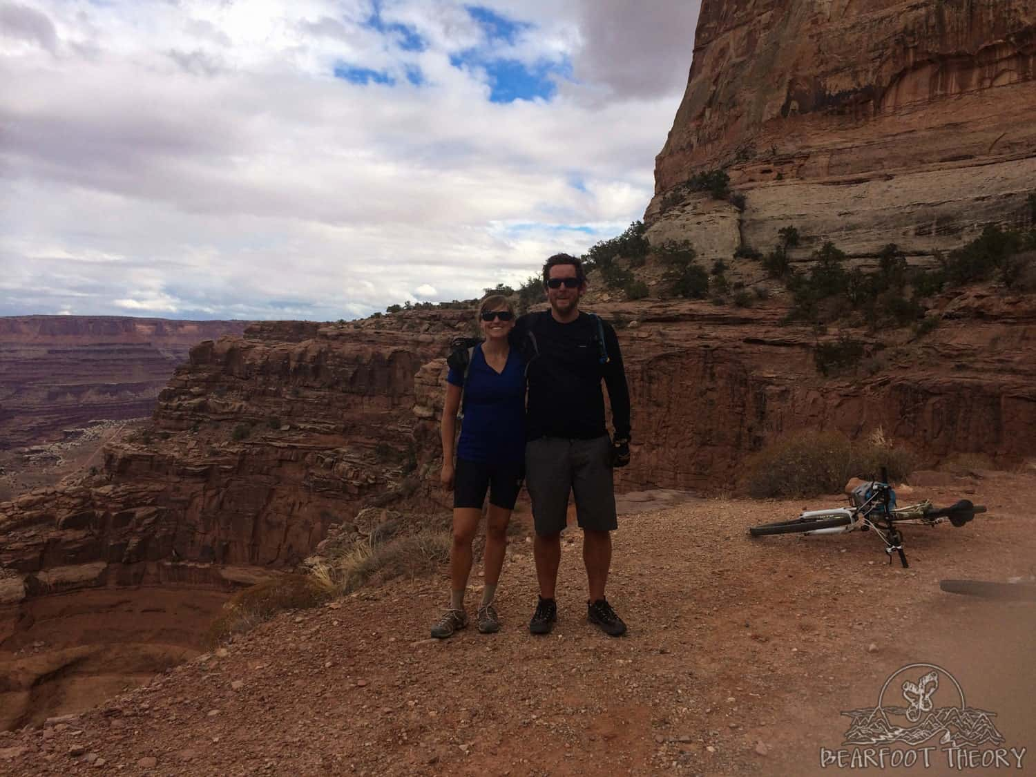 The climb up Shafer Hill on the White Rim Trail in Canyonlands National Park