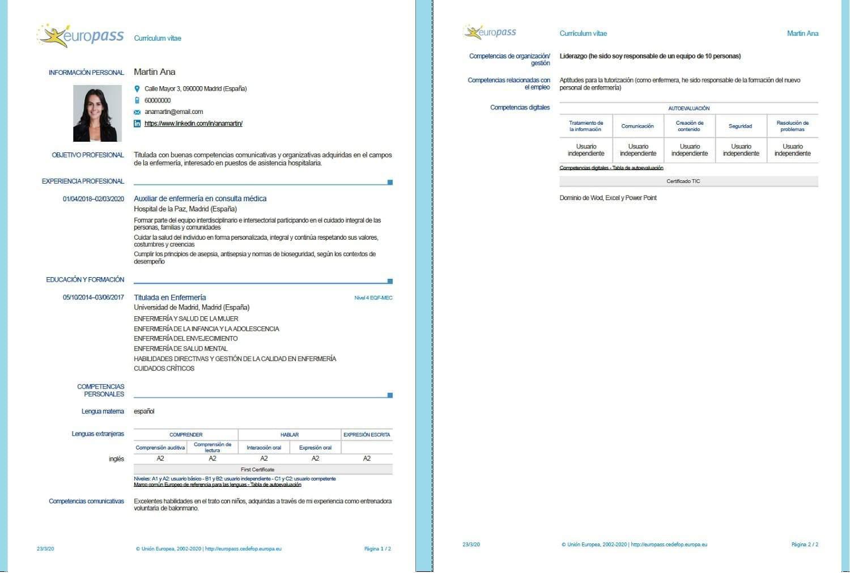 curriculum europass iculum